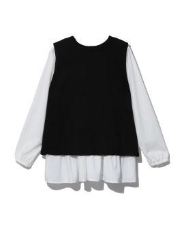 Vest and blouse set