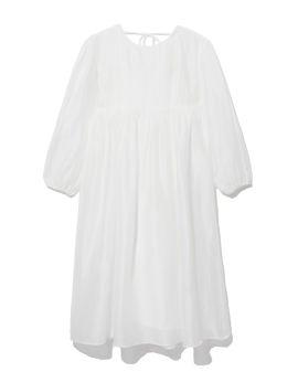 Dual layer shirred dress