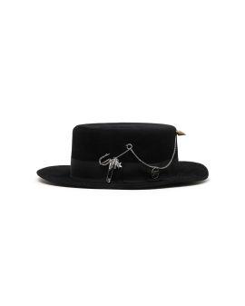 Felt velour hat