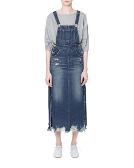 Denim suspender dress