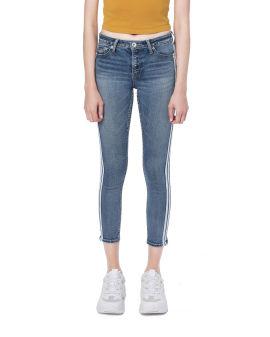 Stripe tape jeans