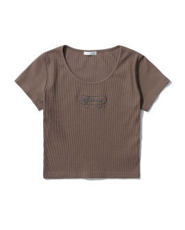 Ribbed embroidered top