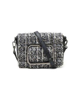 Buckle tweed bag