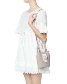 Embellished buckle strap bag