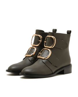Low buckle boots