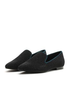 Metallic embellished loafers