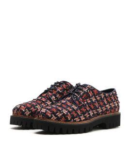 Tweed oxford shoes