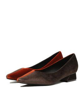 Velour panelled heels