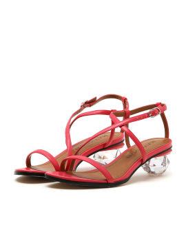 Strass heel sandals