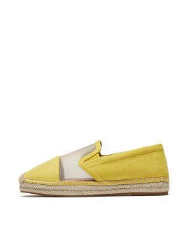 Mesh panelled loafers