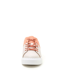 Contrast lace-up sneakers