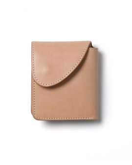 Folded leather wallet