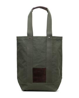 Logo patch tote bag