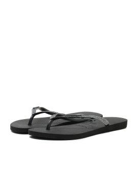 Glittery flip flops