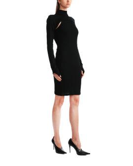 Rib cutout dress