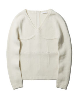 Wool logo pullover sweater