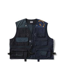 Denim utility vest