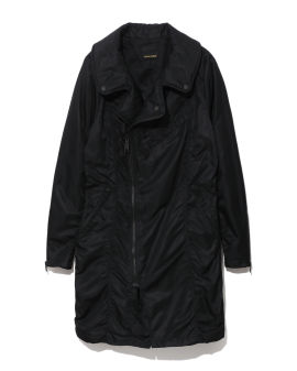 Flat colour double rider coat