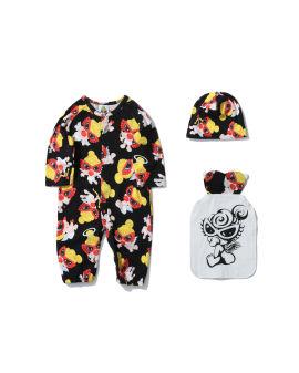 Little Angel Pattern 2way Bodysuits (with Gauze towel & Cap)