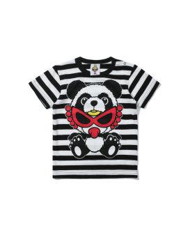 Panda Mini Chan striped tee
