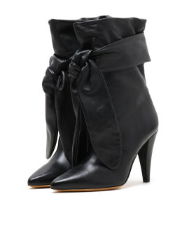 Self-tie ankle boots