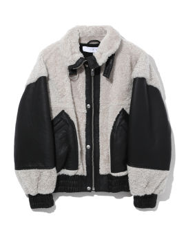 Hotaro shearling and leather bomber jacket