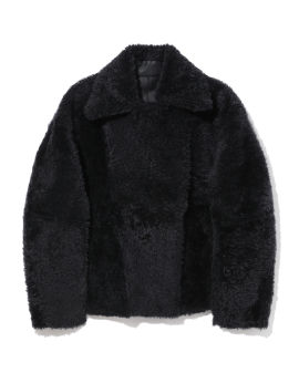 Shearling lined biker jacket