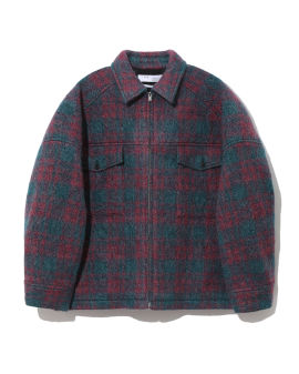 Adhel plaid wool-blend jacket