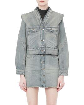 Folded denim jacket