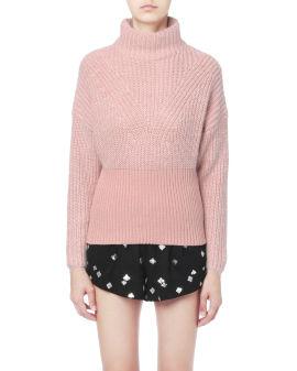 Tonal ribbed turtleneck sweater