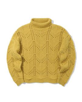 Crochet turtleneck sweater
