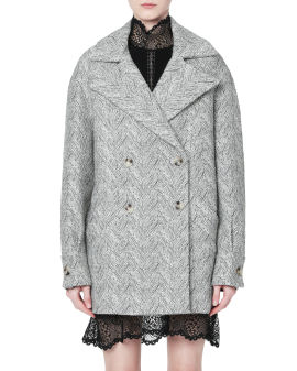 Tweed double-breasted coat