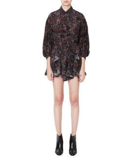 Printed frock mini dress