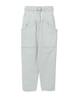 Reconstructed pleated jeans