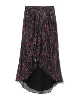 High-low printed skirt