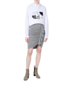 Gathered ruffle skirt