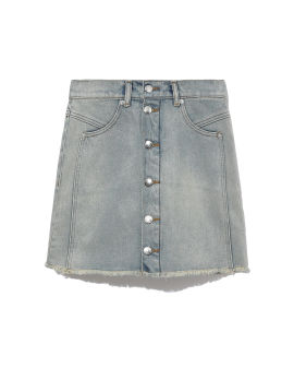 Button placket mini skirt