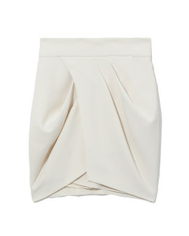 Diagonal pleat mini skirt