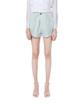 Lace-up details shorts