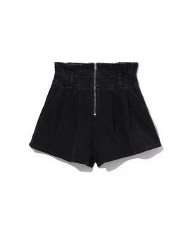 Tocey flared zipper denim mini shorts