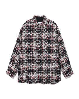 Tweed button-up shirt