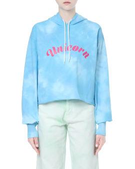 Tie-dye Unicorn print hoodie