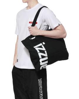 Large logo print tote bag