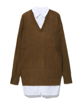 WOOL MOHAIR ST+KN TOP DS V