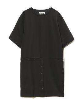 Snap button embellished oversize dress