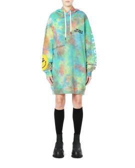 Tie dye hoodie dress