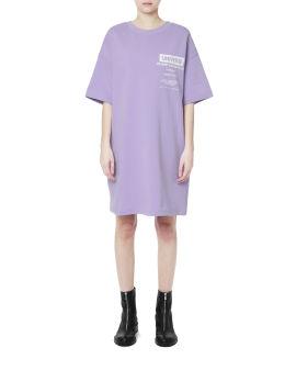 Back buckle sweatshirt dress
