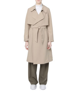 Poly trench coat