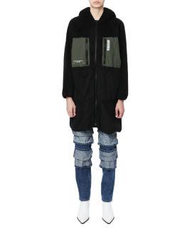 Elongated panel fleece jacket