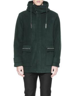 Hooded fleece coat